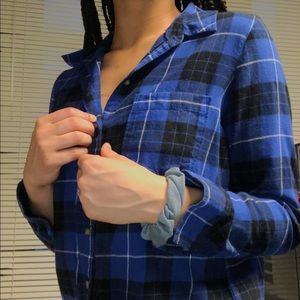 Tops - STAPLE BLUE FLANNEL! Worn Once! GREAT CONDITON